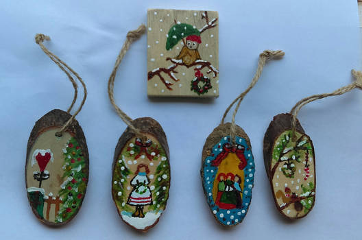 Painted Christmas Ornamemts - part 1