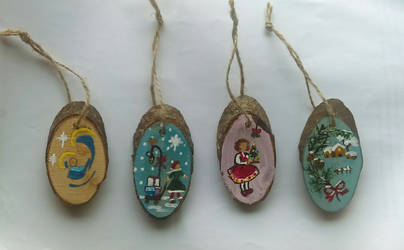 Painted Christmas Ornaments - part 2