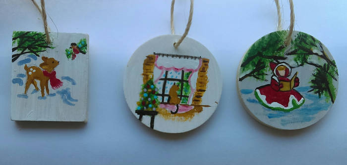 Painted Christmas Ornamemts - part 3