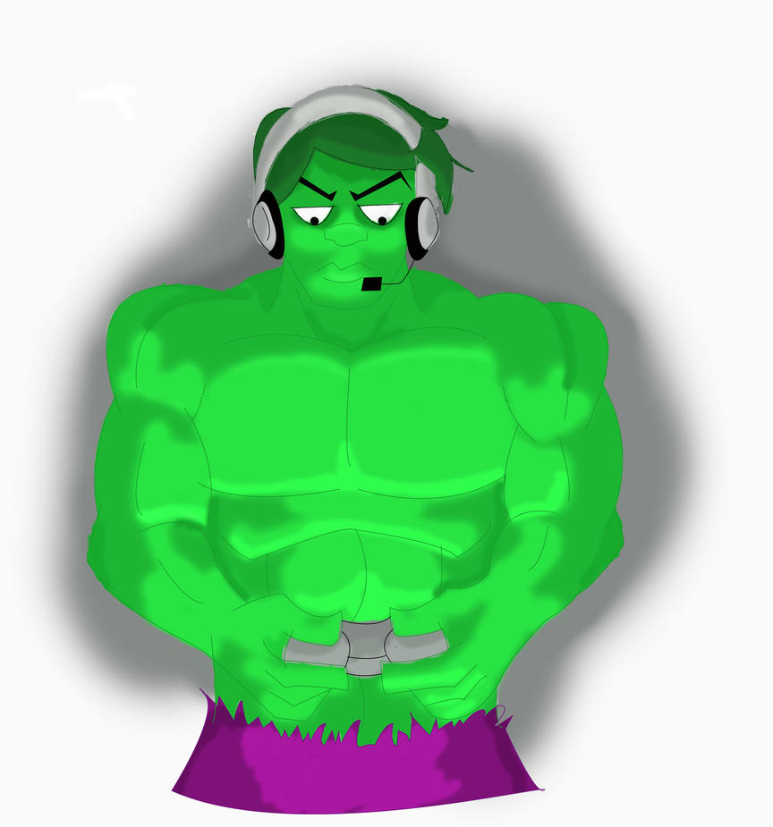 Gamer Hulk by AnarchyHamster