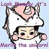 Merlin the Unicorn by WolfAngelDeath