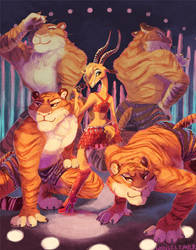 Gazelle and Tigers by whinges