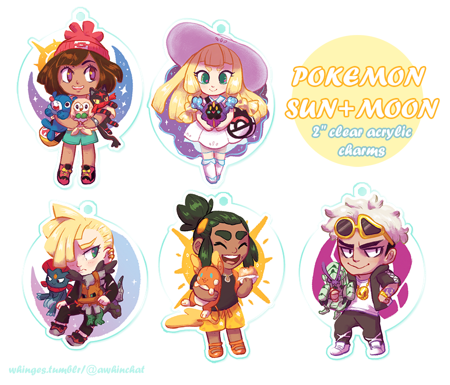 Charms - Pokemon Sun and Moon by whinges