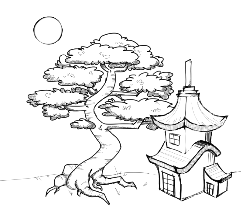 japanese garden coloring pages - photo #47