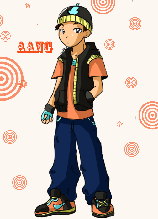 Modern Day Aang by FangirlLynHibiki