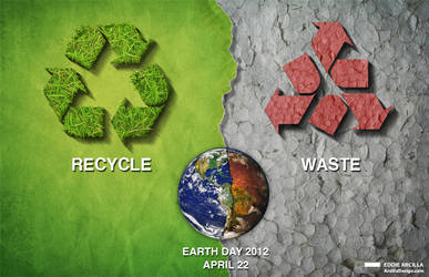 Earth Day: Recycle/Waste v1 by Edd1ZzLe