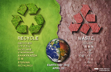 Earth Day: Recycle/Waste v2 by Edd1ZzLe