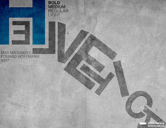 Helvetica: H-Blue by Edd1ZzLe