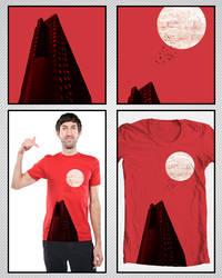 Skyscraper on a Moonlit Night by Edd1ZzLe