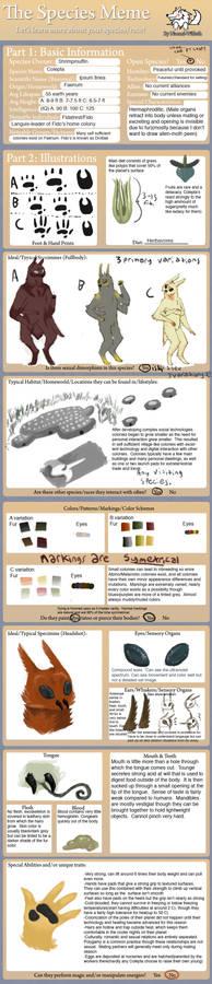 Colepta species sheet and or meme