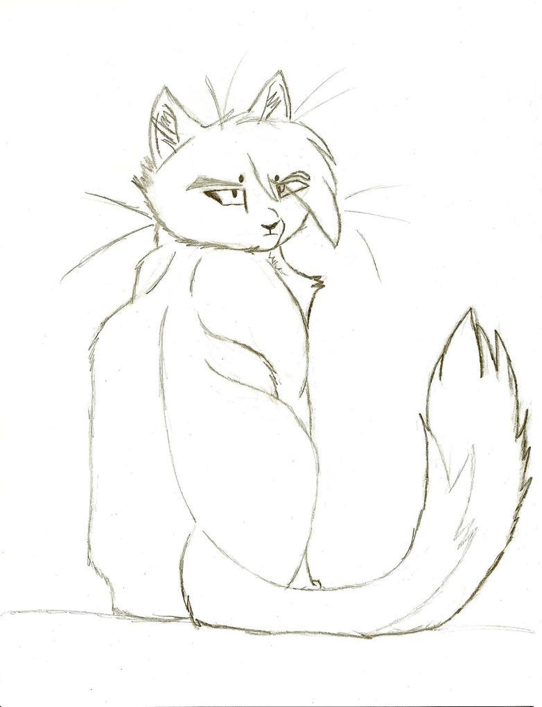 Sittingwarriorcatsketchbymistybubblez Dgoth