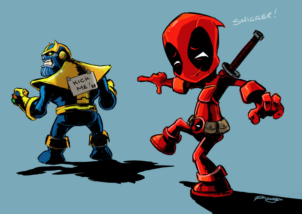 Deadpool And Thanos By Fromabovecomic On Deviantart