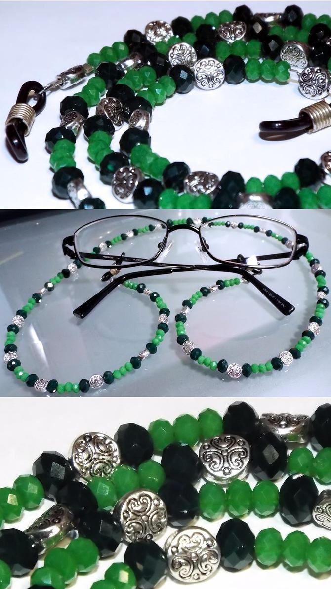 Eyeglass tether - Green by LissaMonster