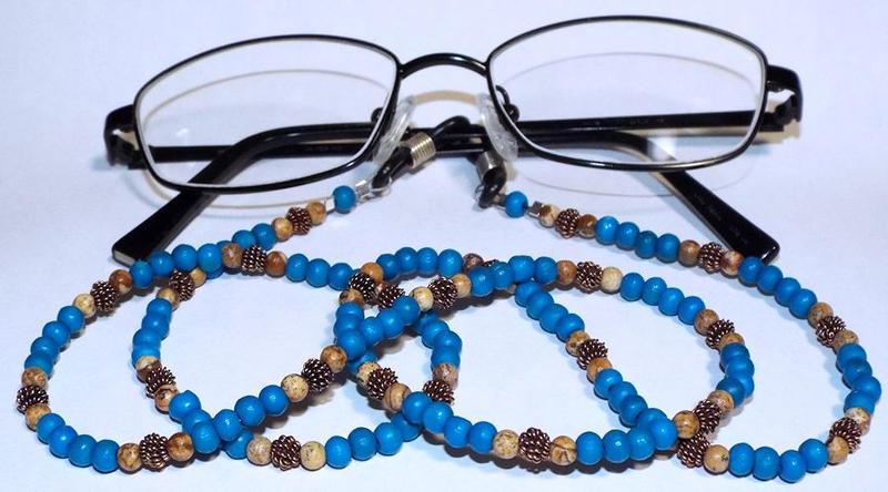 Eyeglass tether - Blue by LissaMonster