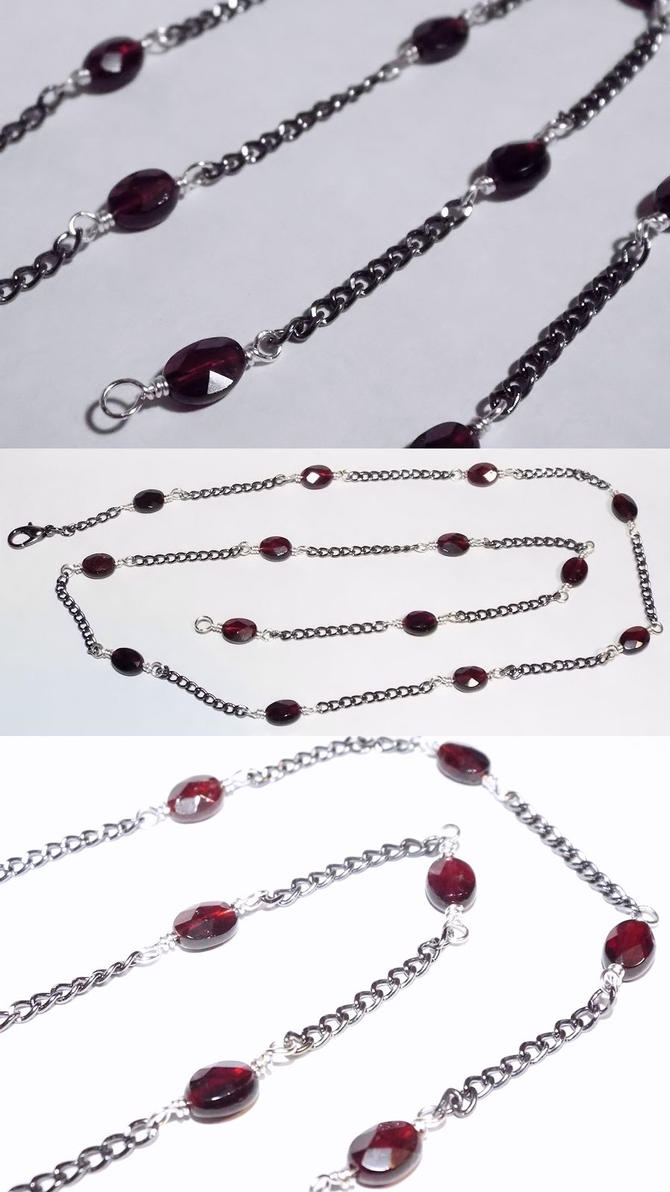 Necklace: Garnet Chain (sold) by LissaMonster