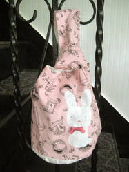 japanese knot bunny bag by gurliebot