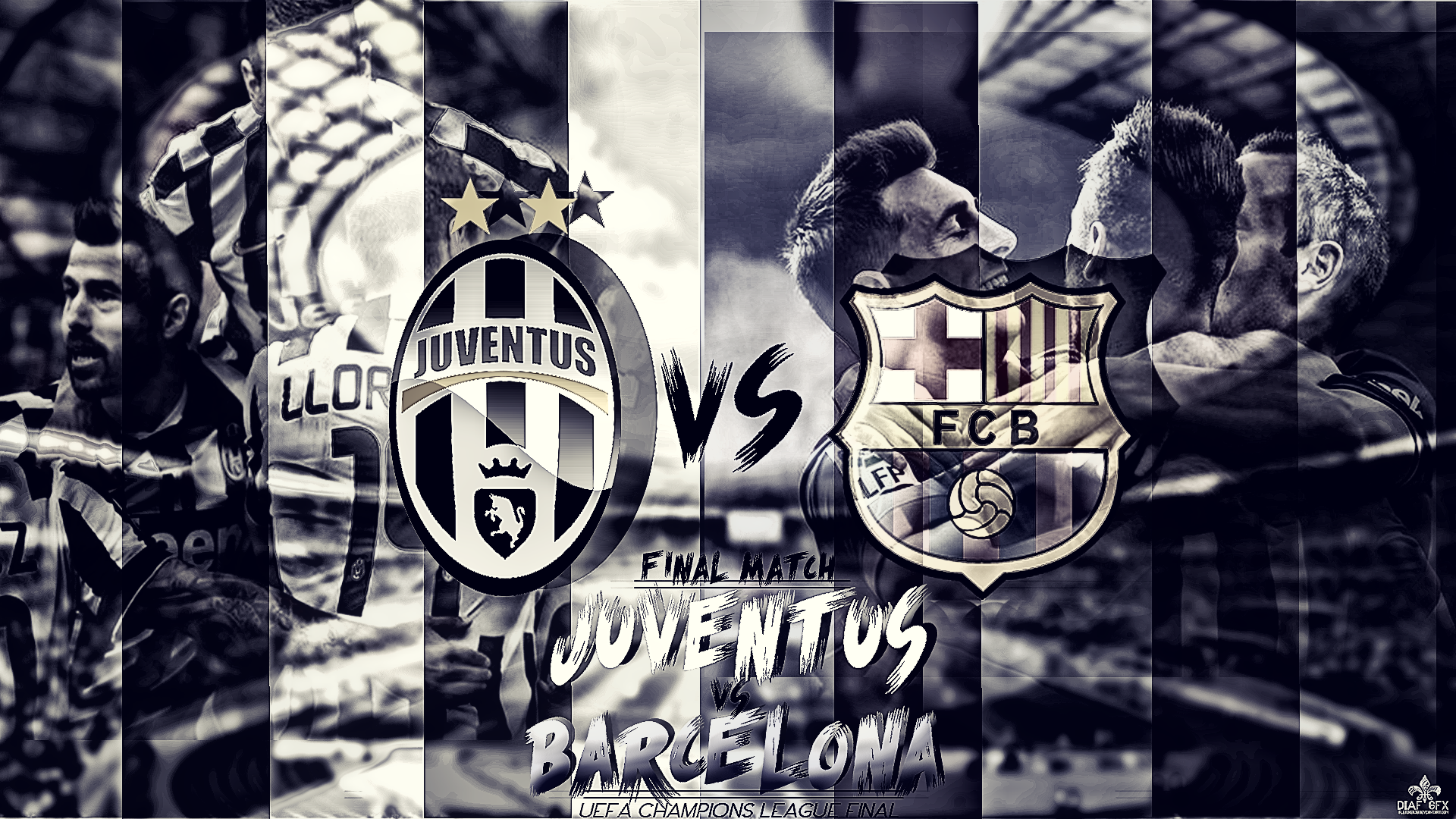 Juventus Vs Barcelona Uefa Champions League Final By Fletcher39 On Deviantart