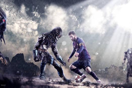 Leo Messi VS Aliens Wallpaper