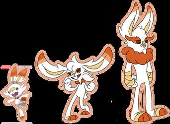 Scorbunny Evolution Guess by Phoenix-Fire-Soul