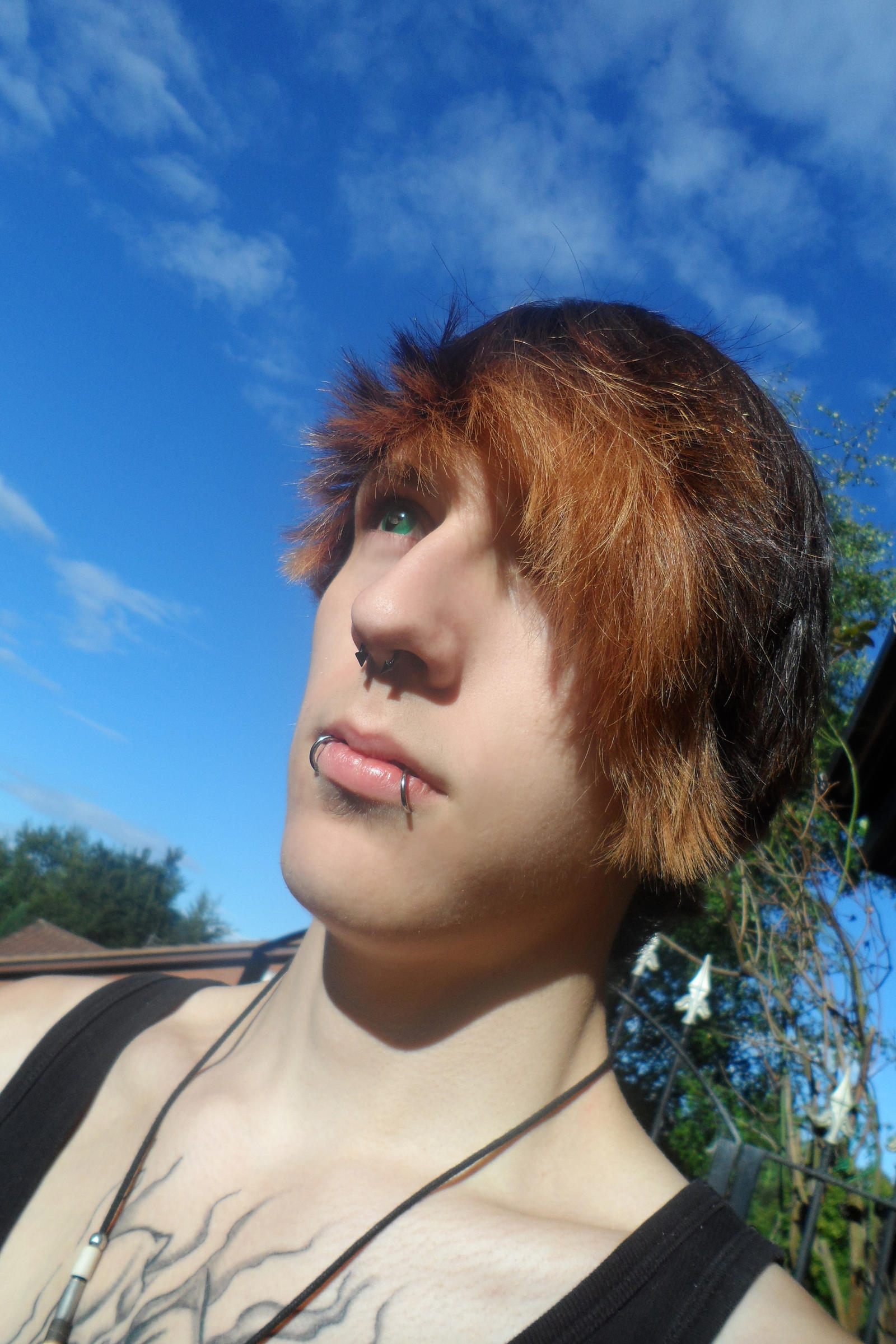 Reptilian Contact Lenses: Blue Skies by Crimson666Fox