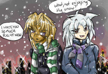 Collab insanity 4-Snow by EvilChibiNic