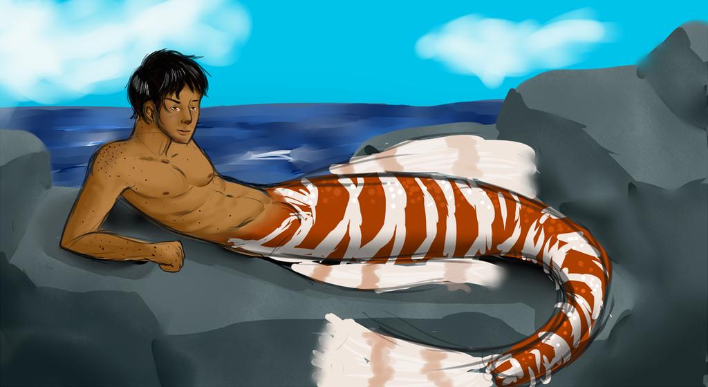 Merman In the sun by wingsgirl