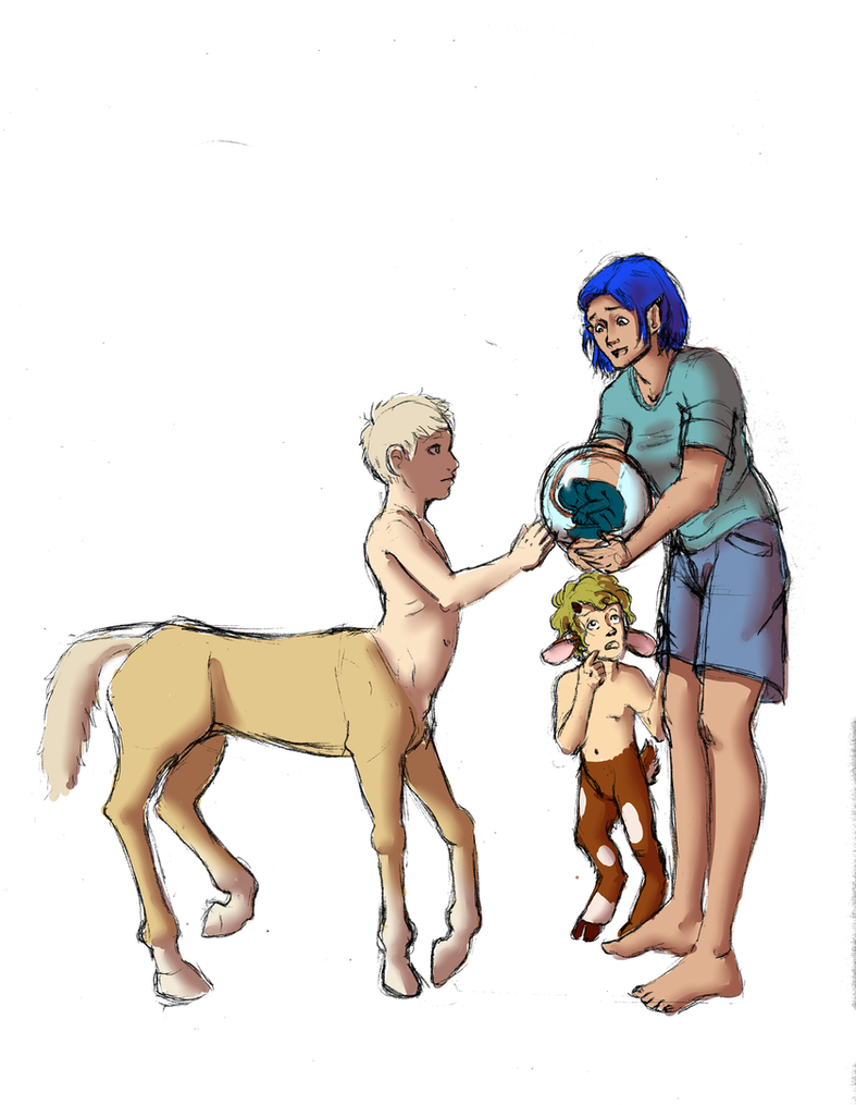 Mythical Family Baby by wingsgirl