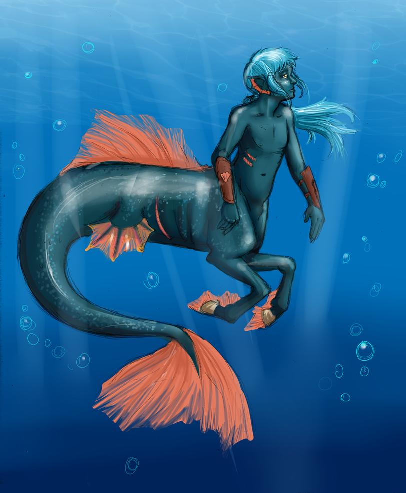 Icthyocentaur by wingsgirl
