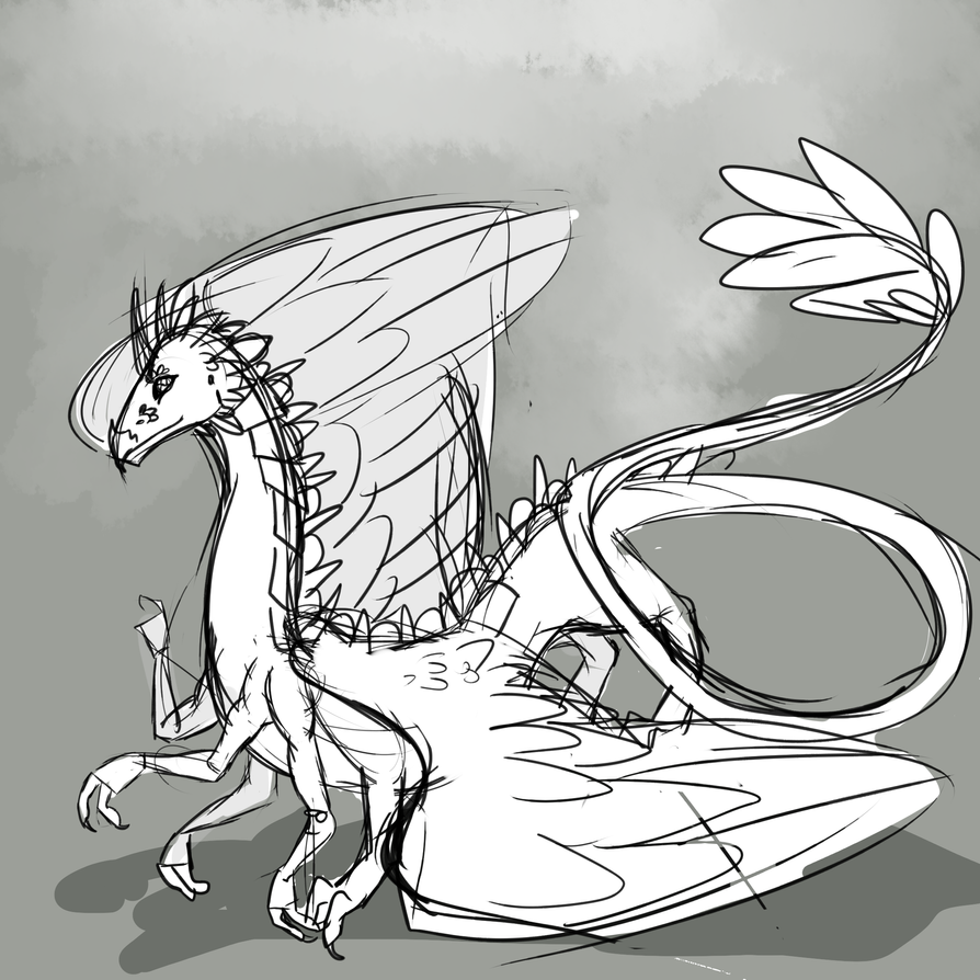 Daily Doodle Dragon Drawn by wingsgirl