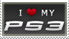 I Love My PS3 Stamp by angelslain