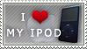 I Love My iPod Stamp