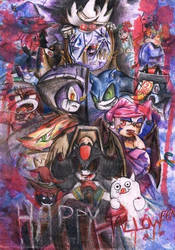 Halloween 2014 with Sonic gang dress as Ghostricks by Specter1997