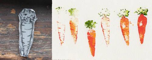 Carrot Stamp by rosanevarez