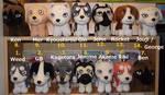 Complete set of Ginga Densetsu Weed plushies