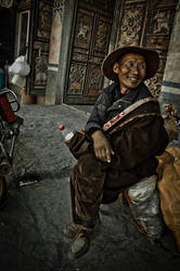 man in Tagong by clalepa