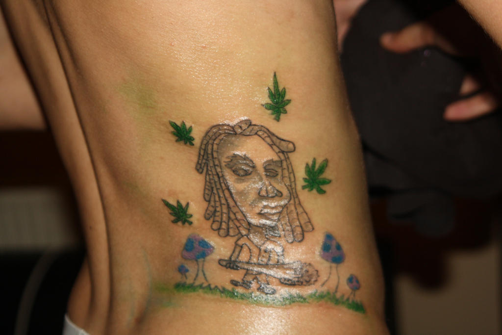 Rastaman weed tattoo by z3r0graf1x on deviantart for Weed tattoo images