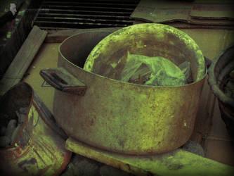 dirty kitchenware