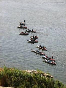One line, River Nile, Egypt