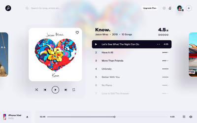 Music App - Player Interface