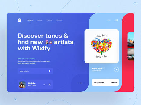 Wixify Music Player concept