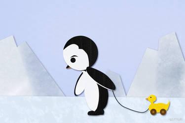 Shy Penguin by gen-chan