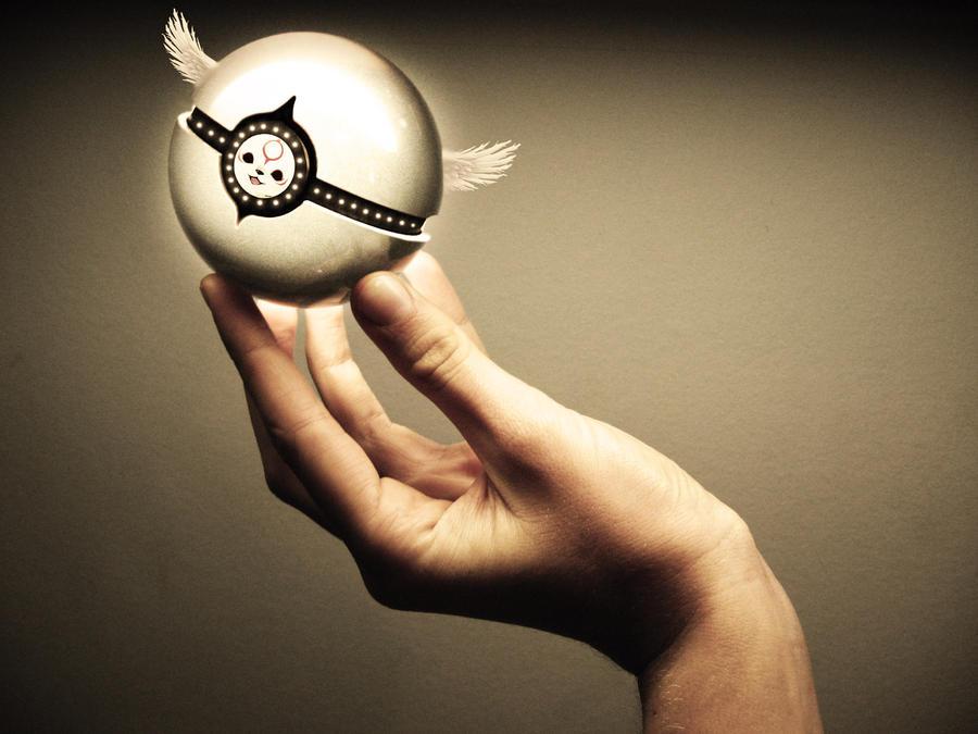The Pokeball of Chibiterasu by wazzy88