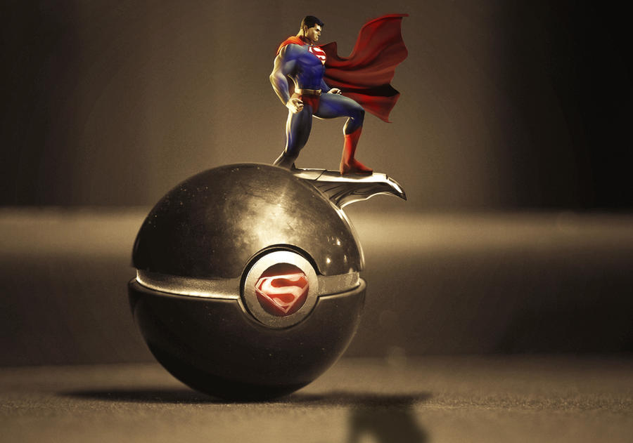 The Pokeball of Superman by wazzy88