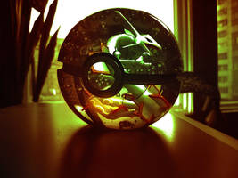 The Pokeball of Rayquaza by wazzy88