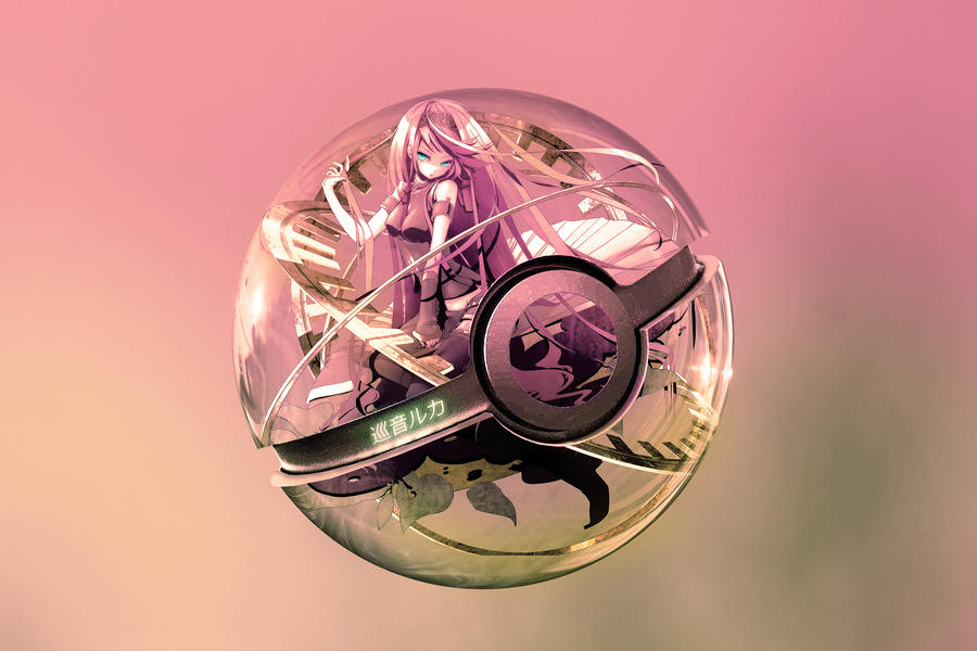 The Pokeball of Megurine Luka by wazzy88