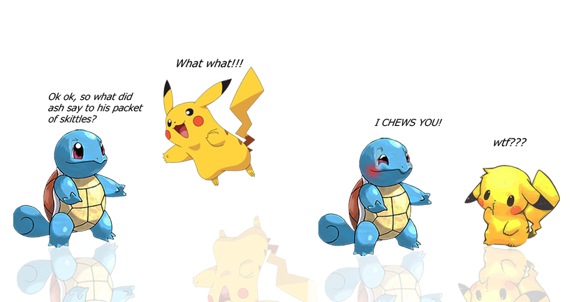 Wazzy88 Comics: Squirtle tells a joke by wazzy88
