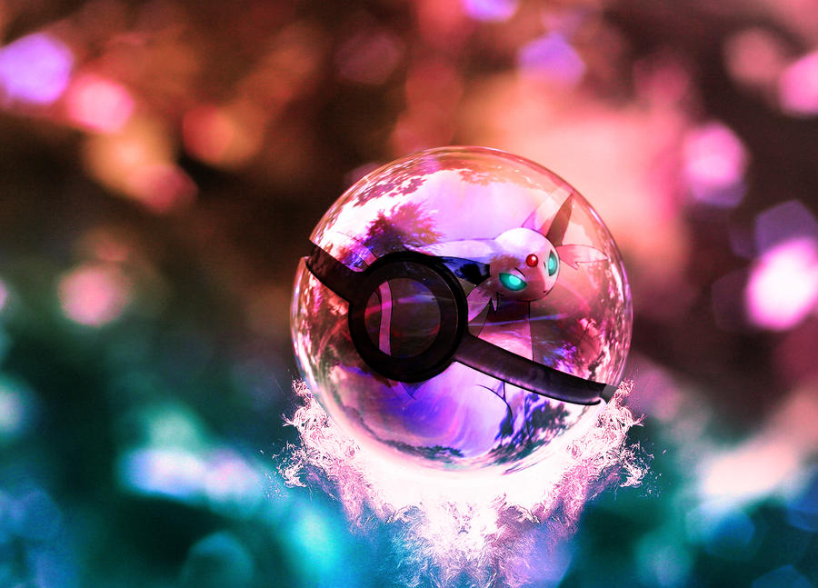 The Pokeball of Espeon II by wazzy88