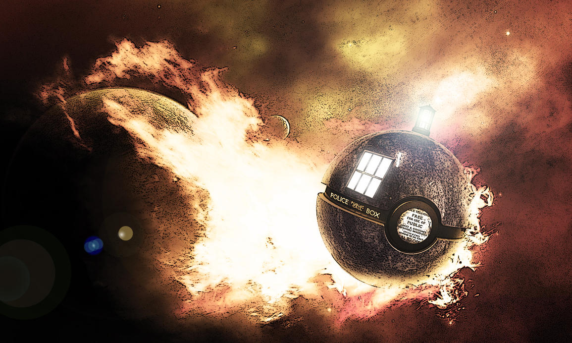 The TARDIS Pokeball by wazzy88