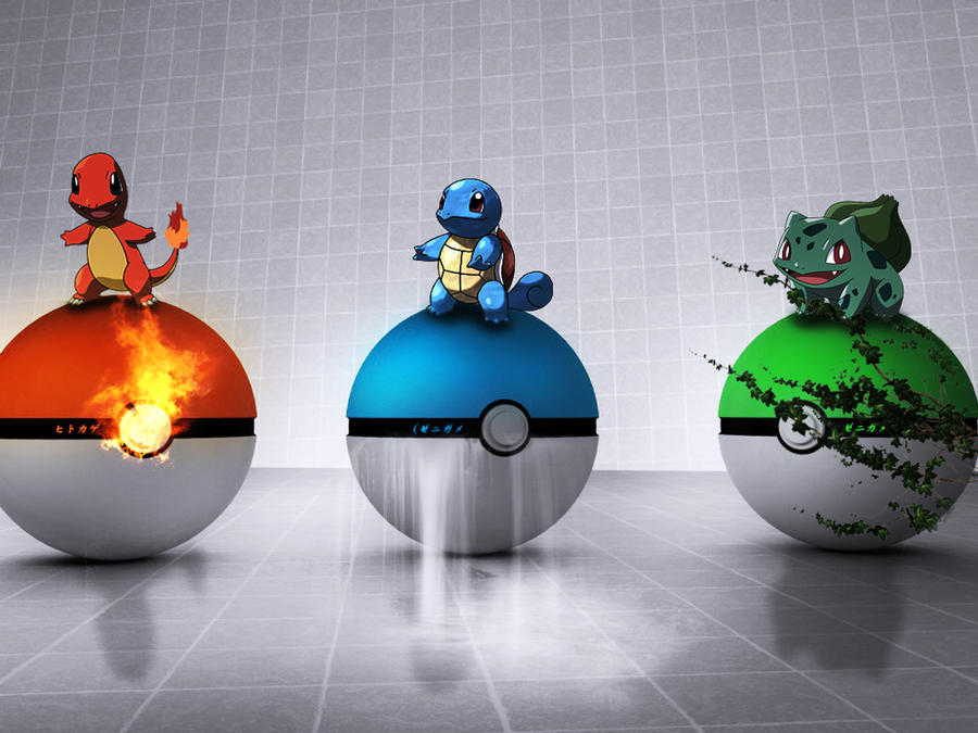 Pokemon Starters Pokeballs by wazzy88
