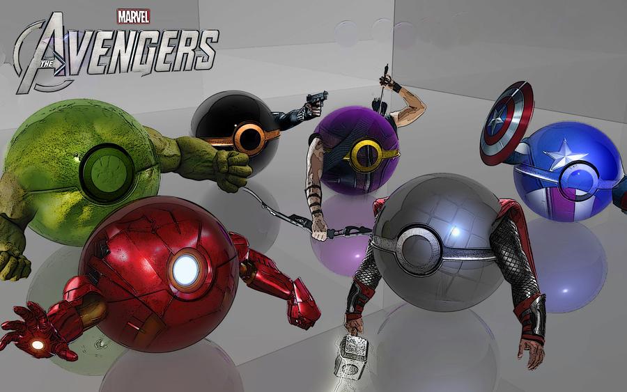 Avenger Pokeballs Assemble! by wazzy88